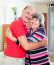 Happy loving mature couple together portrait of Stock Photos