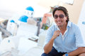 Happy man in Santorini Royalty Free Stock Photo