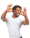 Happy man showing ok sign Royalty Free Stock Photography