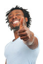 Happy man showing thumb up Stock Image