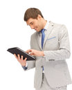 Happy man with tablet pc computer picture of Stock Photos