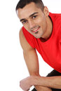 Happy man after workout Stock Images