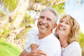 Happy mature couple outdoors Royalty Free Stock Images