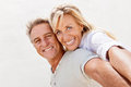 Happy mature couple smiling and embracing Royalty Free Stock Photo