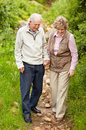 Happy mature couple walking together Royalty Free Stock Images