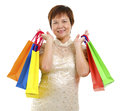 Happy mature shopper Royalty Free Stock Image