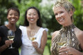 Happy Mature Woman Holding Wine Glass Royalty Free Stock Images