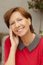 Happy mature woman smiling Royalty Free Stock Photo