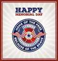 Happy Memorial Day Badge Greeting Card