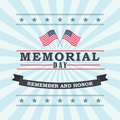 Happy Memorial Day greeting card. Vector illustration.