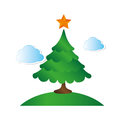 Happy merry christmas tree card