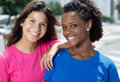 Happy mexican girl with caucasian woman Royalty Free Stock Photo