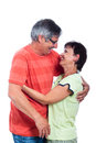 Happy middle aged couple laughing Royalty Free Stock Photo