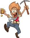 Happy miner Royalty Free Stock Photo