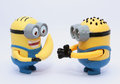 Happy minions celebrating new year Royalty Free Stock Photo