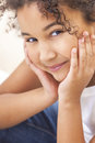 Happy Mixed Race African American Girl Child Royalty Free Stock Photo