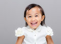 Happy mixed race girl Royalty Free Stock Photo