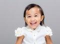 Happy mixed race girl Royalty Free Stock Photo