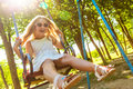 Happy mom and daughter having fun happy family little girl at the park outdoors Royalty Free Stock Photography