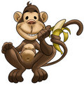 Happy monkey Stock Images
