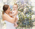 Happy mother with adorable baby family child and happiness concept Royalty Free Stock Photos