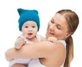 Happy mother with adorable baby picture of Royalty Free Stock Photo