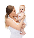 Happy mother with adorable baby picture of Royalty Free Stock Images