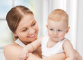 Happy mother with adorable baby picture of Stock Image