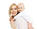 happy mother and baby having fun together Royalty Free Stock Photo