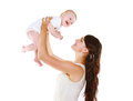 Happy mother and baby having fun Royalty Free Stock Photo