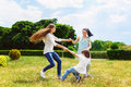 Happy Mother with daughter and son playing on Royalty Free Stock Photo