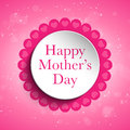 Happy mother day heart tag background vector Royalty Free Stock Photos