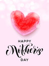 Happy Mother Day Pink Heart Fl...