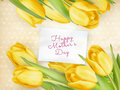 Happy Mother Day Tulips Flower. EPS 10 Royalty Free Stock Photo