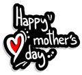 Happy mother day vector emblem Stock Image