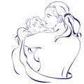 Happy mother holding her baby for your design Royalty Free Stock Images