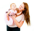Happy mother and little daughter Royalty Free Stock Photo