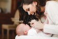 Happy mother with newborn baby Royalty Free Stock Photo