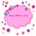 Happy mother s day background with cloud and flowers on the white phone Royalty Free Stock Photo