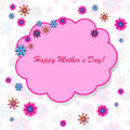 Happy mother s day background with cloud and flowers on the white phone Stock Photo