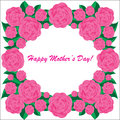 Happy mother s day background with flowers the white phone Royalty Free Stock Image