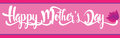 Happy Mother`s Day banner in light pink