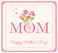 Happy Mother's Day card Royalty Free Stock Photo