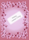 Happy mother s day card with cherry blossoms Royalty Free Stock Photo