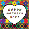 Happy mother s day card colorful illustration Stock Photography