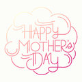 Happy mother s day card custom typography Royalty Free Stock Photos