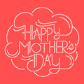 Happy mother s day card custom typography Stock Photography