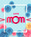 Happy Mother`s day Card layout design