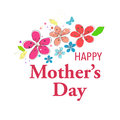Happy Mother's Day greeting card with hanging heart and i love you text vector background Royalty Free Stock Photo