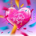 Mother`s Day design layout.